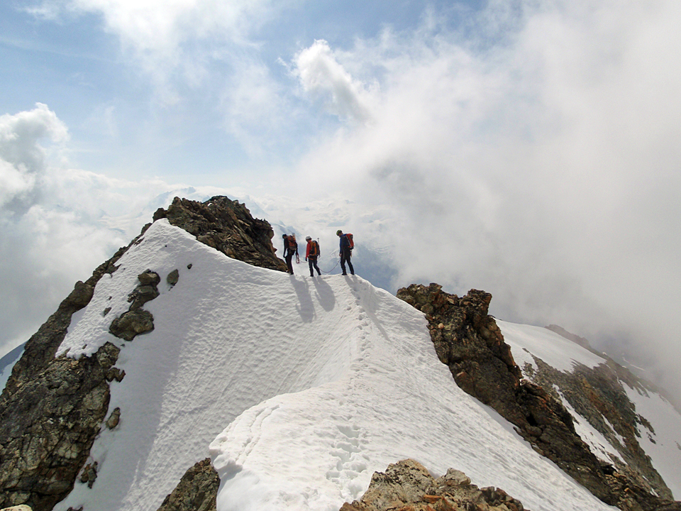 Alpinism in the Valais Alps